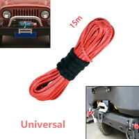 Kind 1/4'' x 50' Synthetic Winch Rope Cable Line for ATV UTV Off-road Red 1PC