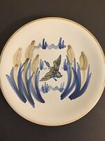 Louisville Stoneware Duck Hunting Plate Hand Painted Made Kentucky USA Pottery