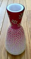 Peachblow Coralene Art Glass Vase