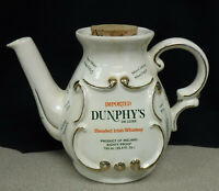 Vintage Dunphy's Blended Irish Whisky Pub Mug Water Pitcher with Cork and lid!!!