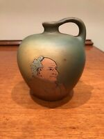 Early Weller Art Pottery Dickens Ware Mood Portrait Jug