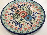 NEW POLISH POTTERY CER-MAZ 7.5 In. Dessert/Salad Plate-Unikat-Floral w Butterfly