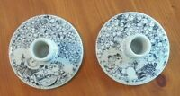 Vintage Bjorn Wiinblad Nymolle Denmark Candle Holder Set of 2 Spring and Autumn