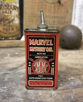 VINTAGE RARE MARVEL MYSTERY OIL TIN CAN HANDY OILER WITH LEAD TOP
