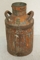 Rustic Vintage Super Service 5 Gallon Gas Geo D Ellis & Sons Ellisco Bucket Can
