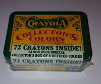 Crayola Collectors Colors 1991 Limited Edition, Tin with Crayons, New