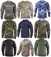 Rothco Military Tactical Long Sleeve Camo T Shirts Sizes: S 2XL