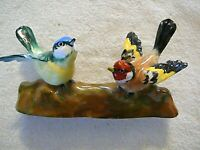 Crown Staffordshire England Figurine JT Jones 2 Wren Birds Sitting on Branch