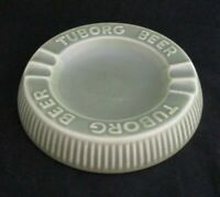 Vintage Extremely Rare Tuborg Beer Fine Pottery Green Ashtray by Soholm Denmark