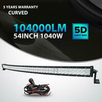 5D+ 54INCH 1040W Curved Led Light Bar SPOT FLOOD Offroad 4x4WD Truck ATV UTE 52