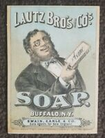 1875 Lautz Bros & Co Buffalo New York NY ACME SOAP Victorian Trade Card