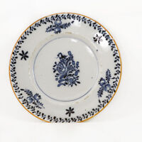 English Delft tin-glazed plate, abstract foliage decoration, 18th c. [11668]