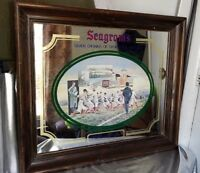 SEAGRAM'S SEVEN CROWNS OF SPORTS 1st ARMY VS NAVY GAME ADVERTISING BAR MIRROR