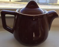 Vintage Hall Brown Pottery Small Teapot with Lid Made in USA