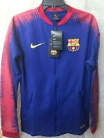 bf97a9849 Nike FC Barcelona Anthem FC Mens Jacket Size Small Navy Red Gold 894361-456
