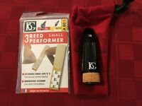BG B1 Bb CLARINET MOUTHPIECE WITH FREE REED PERFORMER AND POUCH