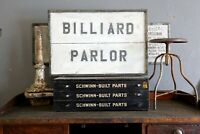 Antique Wood Advertising Sign
