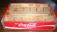 RARE Vintage 1976 WOODEN COCA-COLA / COKE HOLDER CASE / CRATE
