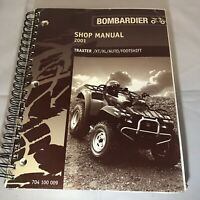 Bombardier Shop Manual 2001 Traxter XT XL Auto Footshift ATV P/N: 704 100 009