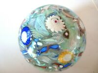 Large Flower Design solid art glass paperweight 3 pounds 4