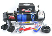 D-Rhino 12000lb 12V Electric Recovery Winch Truck SUV ATV Remote Synthetic Rope