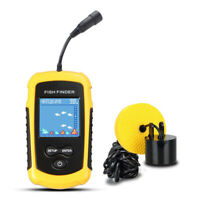 LCD Fish Finder 100M Alarm Sonar Depth Sensor Portable Fishing Tool Transducer