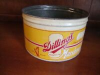 Vintage Dilling's Harp Brand Marshmallows Advertising Candy Tin *