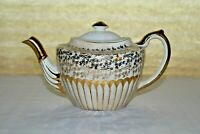 Antique Gibson's Staffordshire W802 Z Gold Floral Chintz Teapot - Circa 1950's