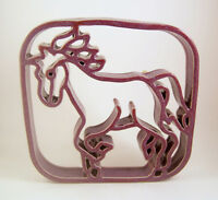 Bay Pottery Running Horse Handmade Virginia Purple Clay 7