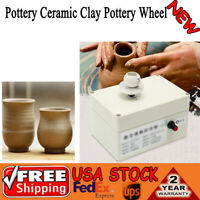 Electric 2000rpm Mini Pottery Wheel Ceramic Mold Machine For DIY Craft Handwork