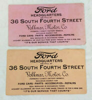Antique Early Ford Motor Co Headquarters Tour/Ticket Add Extremely Rare Volkmar