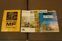 Vintage Lot of 3 Massey-Ferguson Buyer's Guide, Tractor Brochures