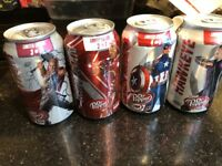 Avengers Ultron Dr. Pepper Can Thor Iron Man Captain America Hawkeye Used Open
