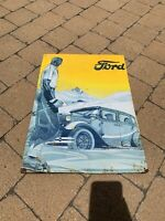 1940's Vintage Ford Metal Sign Ford Motor Company Very Rare!