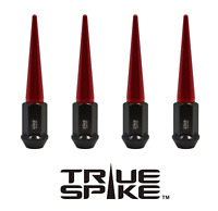 16 TRUE SPIKE 10x1.25MM STEEL EXTENDED SPIKED LUG NUTS RED FOR HONDA ATV QUAD