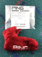 Vintage NOS New PING Golf Karsten Blade Putter Cover Acrylic Faux Fur Headcover