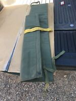Lightly Used  Military rifle case, airborne rangers parachute green padded.