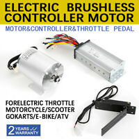 1800W Brushless Controller + Motor Throttle Pedal for Electric ATV Scooter 48V