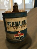 Vintage Standard Oil Permalube Motor Oil 5 Gallon Oil/Gas Can - Nice Patina!!