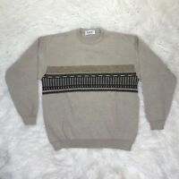 LASA Made in Italy Men's XL Brown Long Sleeve Sweater