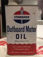 Standard Outboard Motor Oil Can Vintage Oil Gas