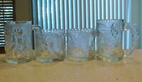 Vintage McDonald's 1995 Batman Forever Complete Clear Glass Mug Set with Robin B