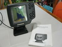 Humminbird Wide One Hundred Fish Finder Head Unit & Mount w/ Manual fishing fish