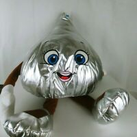 Giant Hershey's Kiss Plush Valentines Day Person Arms Legs 4ft Tall Silver