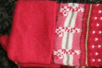 NWOT Pottery Barn Kids Fair Isle Knit Christmas stocking candy  canes