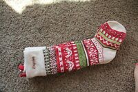 NWOT Pottery Barn Kids Fair Isle Knit Christmas stocking doves Brynlee