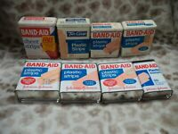 Vintage Lot of 8 Band-Aid Tin Metal Boxes Containers - 1 Two Guys