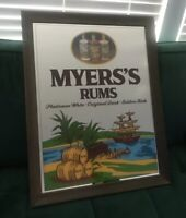 Vintage Myers's Rum Large Mirrored Bar Sign Man Cave Decor