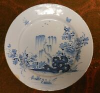 Super Ca 1790 English Delft Plate With Chinoiserie Decoration, 9
