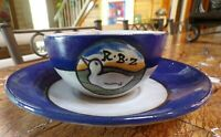 SEG Saturday Evening Girls Paul Revere Pottery Cup & Saucer, Fannie Levine